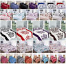 Duvet Cover Set Double Bed Single Super King Size Printed Bedding Luxury New