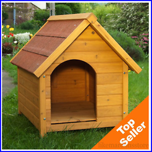 WOODEN DOG KENNEL, House Weather Proof Shelter Outdoor PET, Spike - S, M, L, XL