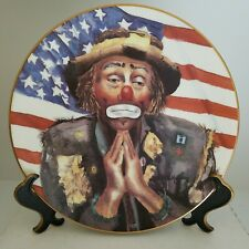 """1986 Collectible Emmett Kelly, Jr. """"And God Bless Amerca"""" Plate-Flambro"""