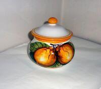PORTA AGLIO con Aerazione in ceramica Sorrentina disegno Amalfi alt.cm.11