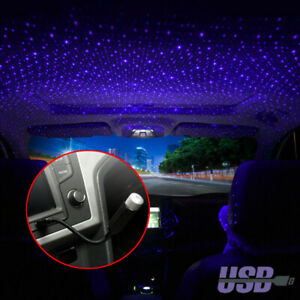 USB Car Interior Atmosphere Star Sky Lamp Ambient Star Night Light LED Projector