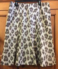 Talbots Linen Silk Blend A Line Skirt Flare Size 16 EUC Lined