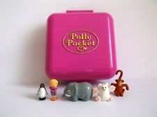 Vintage-Polly-Pocket-1989 WILD ZOO WORLD 100% complete