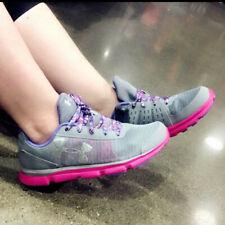NWT Under Armour Kids' Speed Swift Running Shoes 1266305-036 Pink/grey