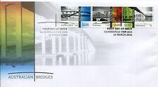 2016 Australian Bridges (Gummed Stamps) FDC - Gladesville NSW 2111 PMK