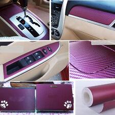 "Carbon Fiber Texture Decal Dashboard Vinyl Wrap Decorative Sticker 12""x50"" Purpl"