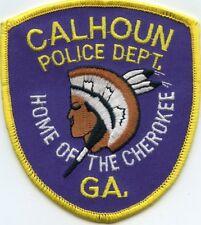 CALHOUN GEORGIA GA Home of The Cherokee INDIAN POLICE PATCH