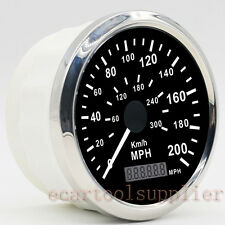 GPS Speedometer Stainless Waterproof Gauge 200MPH 300KMH Car Truck Vans 12/24V
