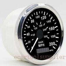 GPS Velocímetro Inoxidable Impermeable Calibre 200MPH 300KMH Coche Camión 12/24V