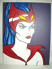 Canvas Painting Catra from She-Ra TV Series B Art 16x12 inch Acrylic