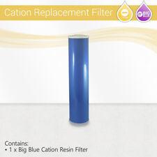"BigBlue 20""x4.5 Cation Resin Softening Water Hardness Reduction Filter cartridge"