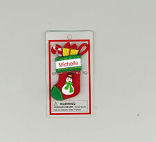 Itsy Bitsy Stocking Ornament ~ MICHELLE ~ Snowman ~ Stocking Stuffer ~ New