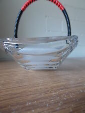 Vintage Antique Collectable Pressed Glass Biscuit Dish Wound Handle in Orig Box