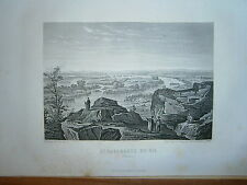Gravure 19° année 1880 2° cataracte du Nil Egypte
