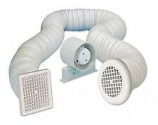 "4"" 100mm Bathroom/Shower Inline Loft Extractor Fan - Full Kit"