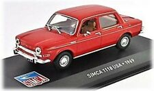 W89 Simca 1118 USA 1969 1/43 Scale Red New in Display Case