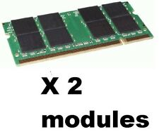 2GB PC2700 DDR LAPTOP MEMORY 333mhz SODIMM RAM sdram 200pin NOTEBOOK =) 2 x 1gb