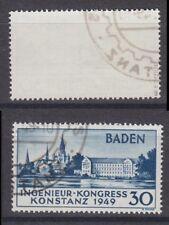 Französische Zone Baden 46 I gestempelt geprüft Marke 1