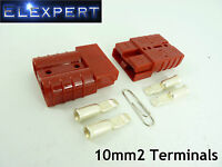 ANDERSON PLUG 50 AMP_BATTERY CONNECTOR_JUMP START_SLAVE ASSIST_X2_RED_10MM2