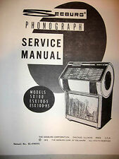 Seeburg Models Sx 100, Esx 100-5, Esx 100-H5 Jukebox Manual