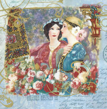 RARE Legacy Art Studio Weedn Family Trust ART NOUVEAU Maiden Lady CAMEO Fabric