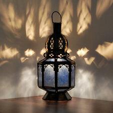 Linterna Oriental Marruecos Lámpara Colgante Oriente Lámpara Cristal Samara Azul