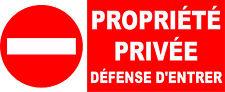 Interdit propriété privée défense d'entrer