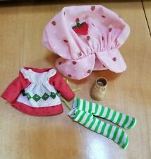 Vintage 1980s Strawberry Shortcake Outfit: Dress, Shoe, Tights & Hat with Berry