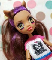 MONSTER HIGH DOLL WINNING WEREWOLVES CLAWDEEN WOLF CHEERLEADER OUTFIT SHOES