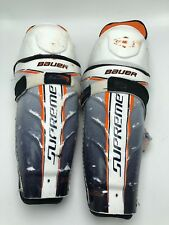 "Bauer supreme one60 shin guards 11"" Removable Liner - Vintage Pads Anchor Strap"