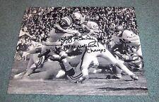 Nebraska Huskers Jeff Kinney Signed Autographed Photo 70-71 National Champs B