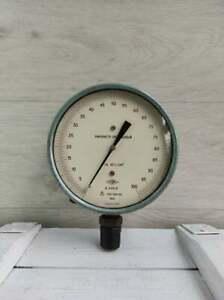 Vintage Soviet Manometer.Industrial Home Decor.Steampunk Lamp Part.1970s Vintage