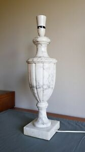Very Attractive Vintage Marbled Alabaster Classical Urn Lamp Large