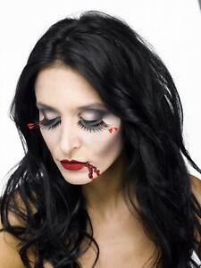Halloween, Cosplay Vampire Eyes Stage Makeup Kit - Eyelashes, Fake Blood #8393