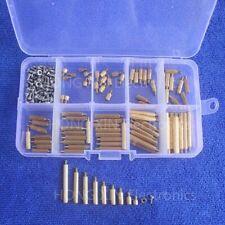 270Pc M2 3-25mm Male To Female Brass PCB Standoff Screw Nut Assortment Kit Set