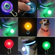 Mini Pet Dog Cat Puppy LED Flashing Collar Safety Night Light Keyring Pendant