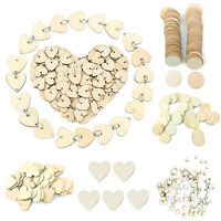 Wooden Flowers/Circle Disc/Love Heart Festival Pendants Wedding Party Ornament