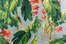 Blue Tropical Print Drapery Upholstery Fabric by Braemore Banana Grove Daylight