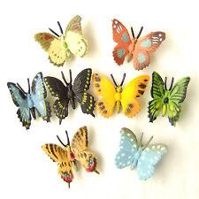 8pcs Colorful Butterfly Realistic Lifelike Fairy Garden Terrarium Home Decor Toy
