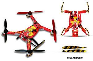 Blade 350 QX2 Drone Wrap RC Quadcopter Decal Sticker Skin Accessory MELTDOWN
