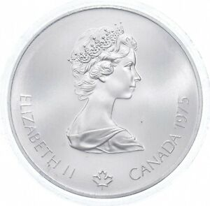 1975 $5 Canadian Canada Olympic Silver Coin *523