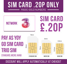 New 3 PAYG 3G | 4G | 5G Trio Data SIM Pack  UNLIMITED GB of Data | Calls | Text