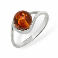 Unbranded Sterling Silver Amber Fine Rings