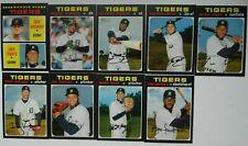 2020 Topps Heritage Detroit Tigers Base Team Set of 9 Baseball Cards