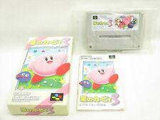 STAR KIRBY 3 Item Ref/bcc Super Famicom Nintendo Japan Boxed Game sf