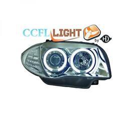 LHD PROJECTEUR CCFL Phares Paire Clair Chrome pour BMW Série 1 E81 E87 04-11