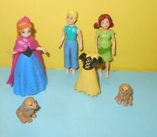 Disney Mattel Anna Princess Frozen Magiclip Character Doll Toys w/ Polly Pocket