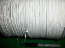 BULK 3,500'  1.8mm NYLON BRAIDED ROPE CORD STRING WHITE COMMERCIAL GRADE