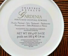 CRABTREE & EVELYN PERFUMED DUSTING POWDER GARDENIA 3.4 oz LOVELY RARE NEW FREESH
