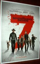 THE MAGNIFICENT SEVEN (2016) 27 X 37 ORIGINAL  POSTER  INDIA